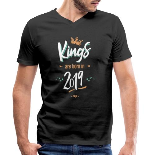 Kings are born in 2019 - T-shirt bio col V Stanley & Stella Homme