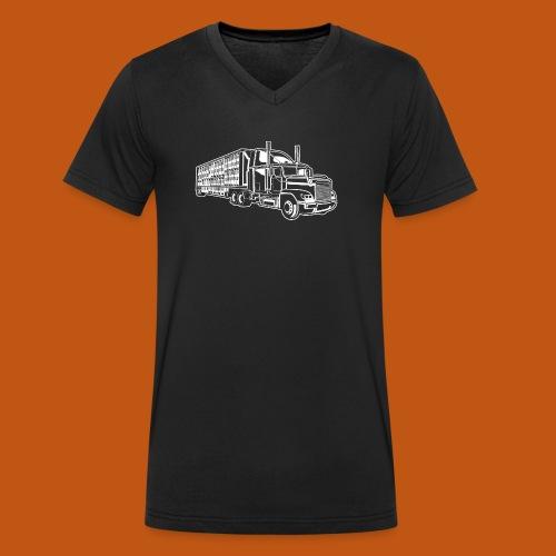 Truck / Lkw 01_weiß - Männer Bio-T-Shirt mit V-Ausschnitt von Stanley & Stella