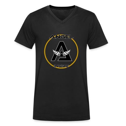 ANGEL INSIDE-01 - T-shirt ecologica da uomo con scollo a V di Stanley & Stella