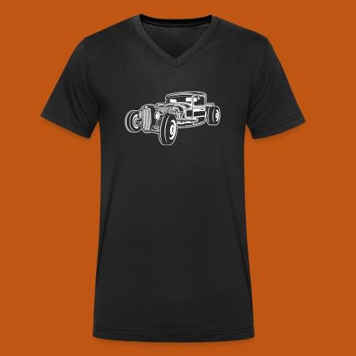 Hot Rod / Rad Rod 06_weiß - Männer Bio-T-Shirt mit V-Ausschnitt von Stanley & Stella
