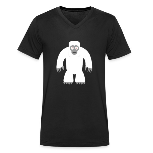 Yeti - Männer Bio-T-Shirt mit V-Ausschnitt von Stanley & Stella