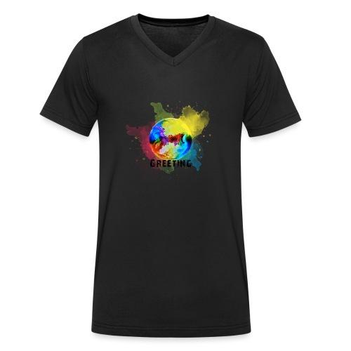 World is Greeting FridaysforFuture - Männer Bio-T-Shirt mit V-Ausschnitt von Stanley & Stella