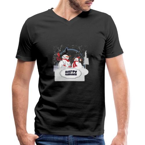 happy winter - T-shirt bio col V Stanley & Stella Homme