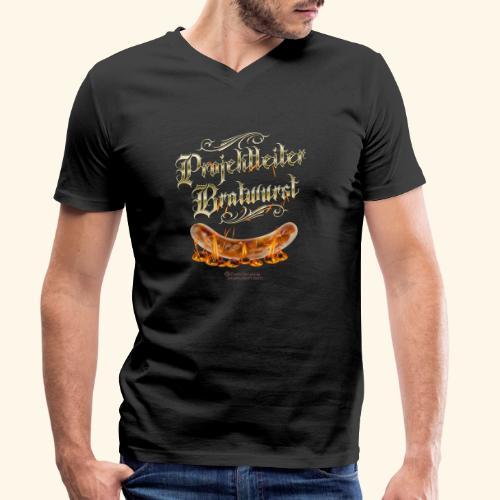 Projektleiter Bratwurst Spruch für Grillen & BBQ - Männer Bio-T-Shirt mit V-Ausschnitt von Stanley & Stella