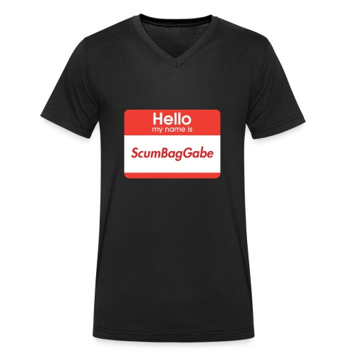 Hello My Name Is ScumBagGabe - Men's Organic V-Neck T-Shirt by Stanley & Stella