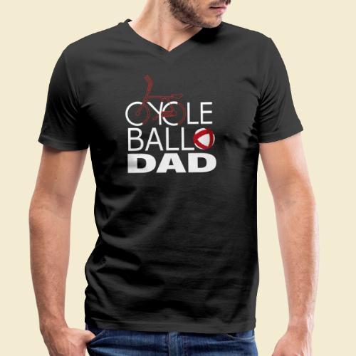 Radball | Cycle Ball Dad - Männer Bio-T-Shirt mit V-Ausschnitt von Stanley & Stella