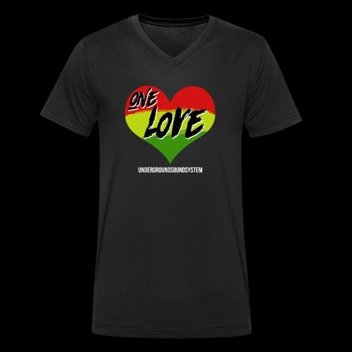 ONE LOVE - HEART - Männer Bio-T-Shirt mit V-Ausschnitt von Stanley & Stella