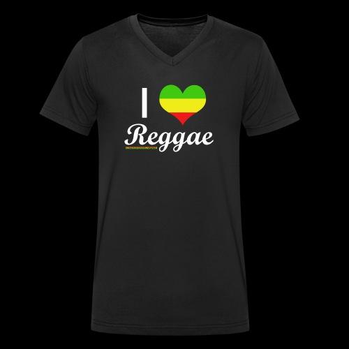 I LOVE Reggae - Männer Bio-T-Shirt mit V-Ausschnitt von Stanley & Stella