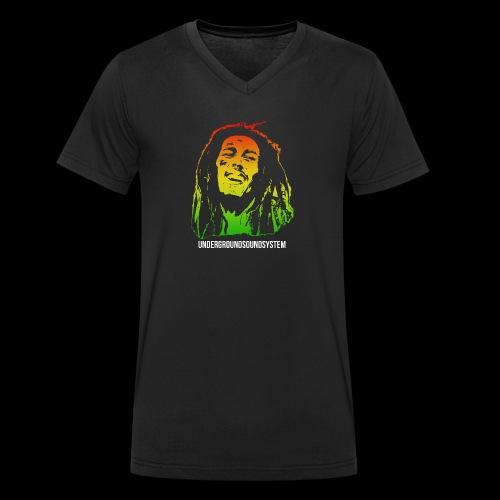 King of Reggae - Männer Bio-T-Shirt mit V-Ausschnitt von Stanley & Stella