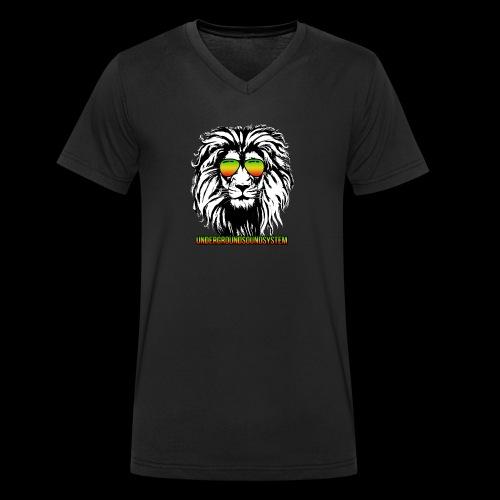 RASTA REGGAE LION - Männer Bio-T-Shirt mit V-Ausschnitt von Stanley & Stella