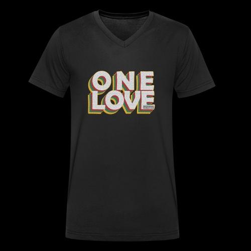 ONE LOVE - Männer Bio-T-Shirt mit V-Ausschnitt von Stanley & Stella