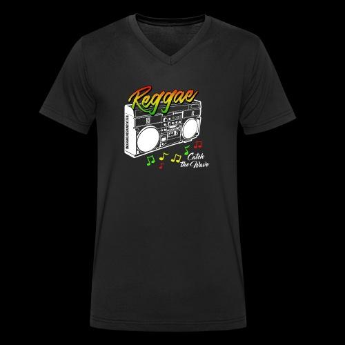 Reggae - Catch the Wave - Männer Bio-T-Shirt mit V-Ausschnitt von Stanley & Stella