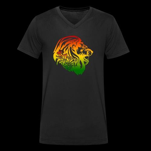 RASTA FARI LION - Männer Bio-T-Shirt mit V-Ausschnitt von Stanley & Stella