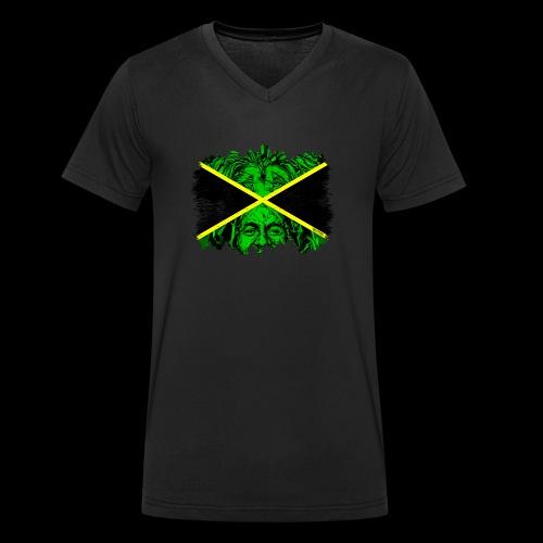 LION BOB JAMAICA - Männer Bio-T-Shirt mit V-Ausschnitt von Stanley & Stella