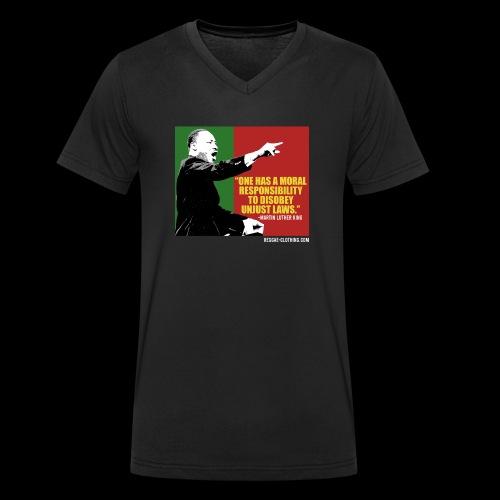 MARTIN LUTHER KING unjust laws - Männer Bio-T-Shirt mit V-Ausschnitt von Stanley & Stella