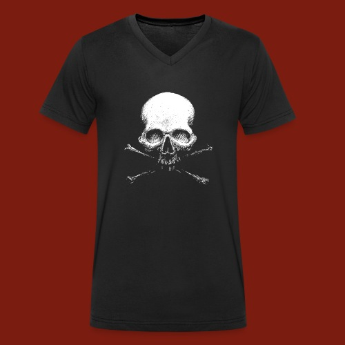 Old Skull - Men's Organic V-Neck T-Shirt by Stanley & Stella