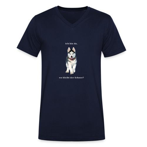 Husky Welpen mit bezaubernden Augen - Männer Bio-T-Shirt mit V-Ausschnitt von Stanley & Stella