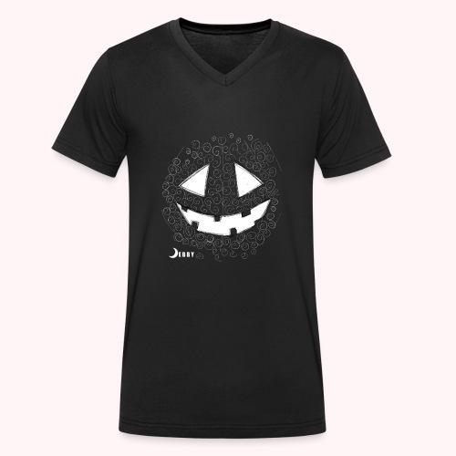 PUMPKIN FACE - 🍂FALL COLLECTION by DEBBY🍁 - T-shirt ecologica da uomo con scollo a V di Stanley & Stella