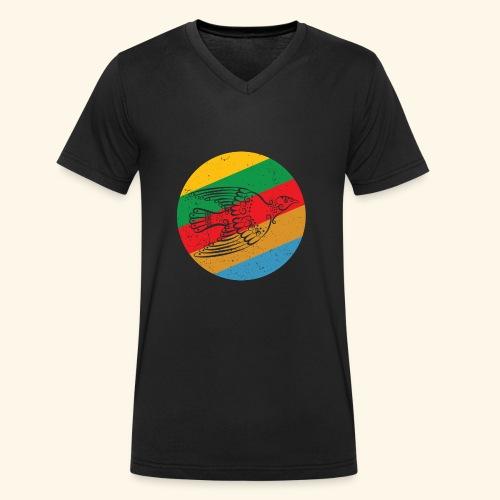 Grenadian Dove Retro - Men's Organic V-Neck T-Shirt by Stanley & Stella