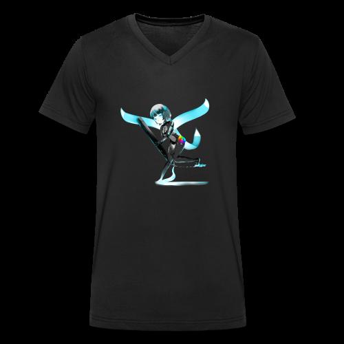 Huion Character O.C. - T-shirt ecologica da uomo con scollo a V di Stanley & Stella