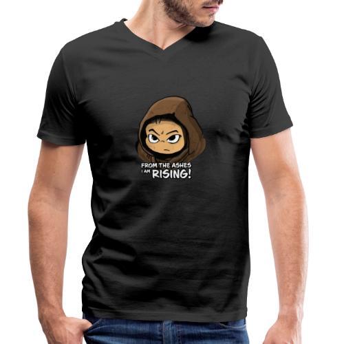 Joan Ferguson From the Ashes I Am Rising! - Men's Organic V-Neck T-Shirt by Stanley & Stella