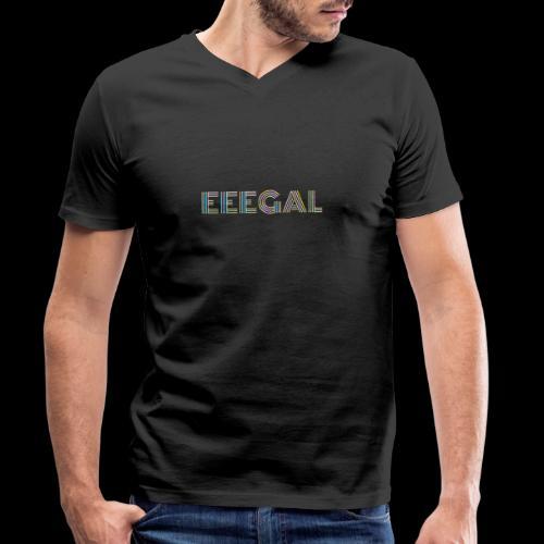 Egal EEEGAL Schlager Meme Musik Song - Männer Bio-T-Shirt mit V-Ausschnitt von Stanley & Stella