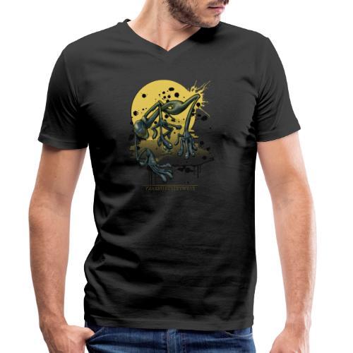 Elite & das Proletariat - Männer Bio-T-Shirt mit V-Ausschnitt von Stanley & Stella