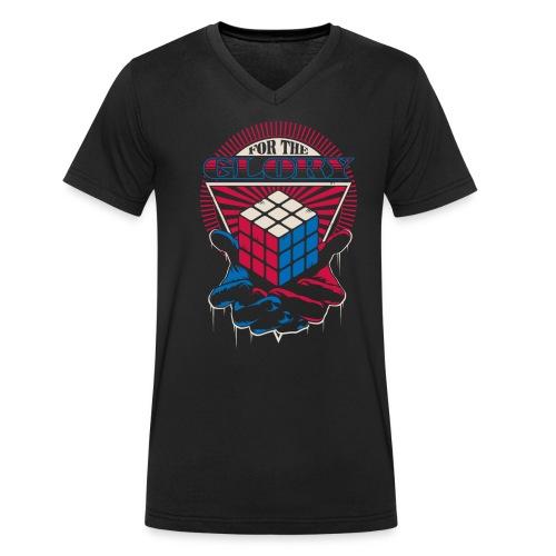 Rubik's For The Glory - Ekologisk T-shirt med V-ringning herr från Stanley & Stella