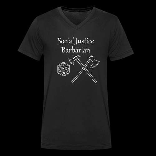 Social Justice Barbarian - Men's Organic V-Neck T-Shirt by Stanley & Stella