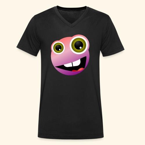Grins - Männer Bio-T-Shirt mit V-Ausschnitt von Stanley & Stella