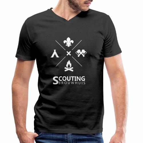 Scouting Brouwhuis - Mannen bio T-shirt met V-hals van Stanley & Stella