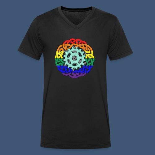 Berlingtons Geisterjäger Logo Amalia Zeichnerin - Männer Bio-T-Shirt mit V-Ausschnitt von Stanley & Stella