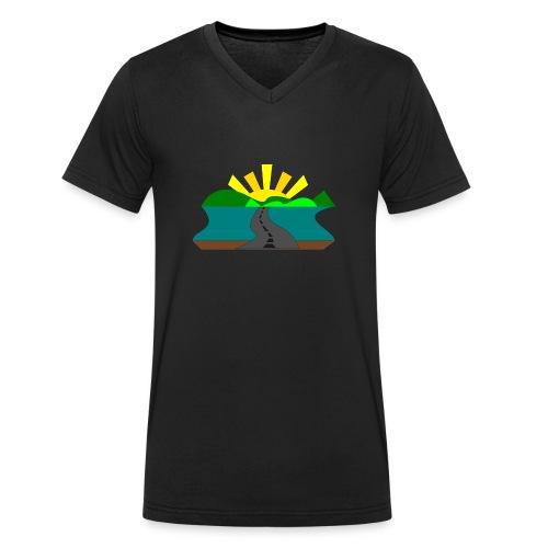 land - Camiseta ecológica hombre con cuello de pico de Stanley & Stella