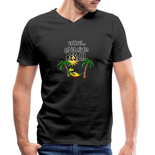 und heut... geb ich mir den Rest - Party Banane - Men's Organic V-Neck T-Shirt by Stanley & Stella
