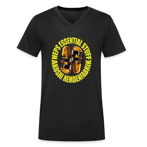 Laatschen Kitty vs. zitrone - Männer Bio-T-Shirt mit V-Ausschnitt von Stanley & Stella