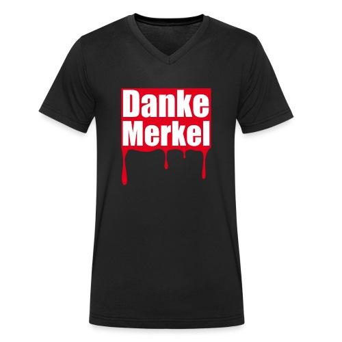 Danke Merkel - Männer Bio-T-Shirt mit V-Ausschnitt von Stanley & Stella