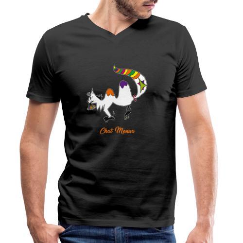 Chat Monux - T-shirt bio col V Stanley & Stella Homme