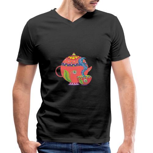 L'heure du thé - T-shirt bio col V Stanley & Stella Homme