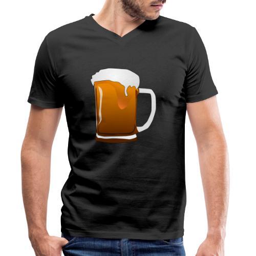 Cartoon Bier Geschenkidee Biermaß - Männer Bio-T-Shirt mit V-Ausschnitt von Stanley & Stella