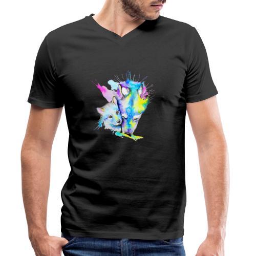 Loups Wolf - T-shirt bio col V Stanley & Stella Homme