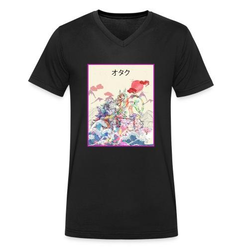 Aesthetic Vaporwave Synthwave Japan Anime Retro - Männer Bio-T-Shirt mit V-Ausschnitt von Stanley & Stella