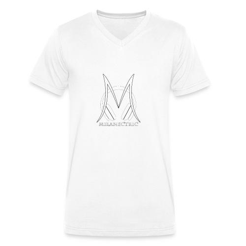 logo musik shirt - Männer Bio-T-Shirt mit V-Ausschnitt von Stanley & Stella