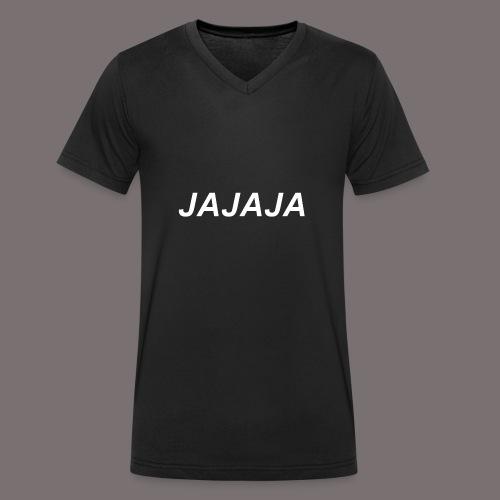 Ja - Männer Bio-T-Shirt mit V-Ausschnitt von Stanley & Stella