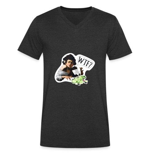 WTF - Camiseta ecológica hombre con cuello de pico de Stanley & Stella