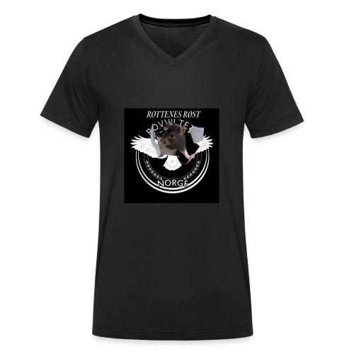 rrlogo - Økologisk T-skjorte med V-hals for menn fra Stanley & Stella
