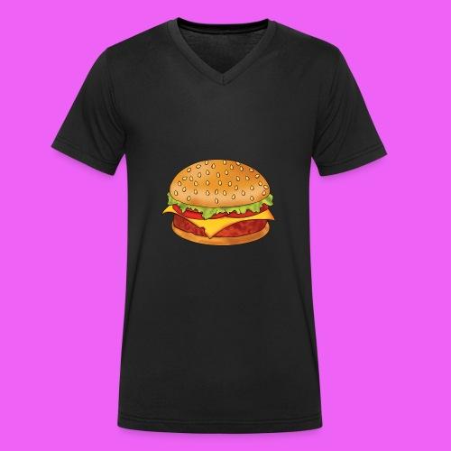 hamburguesa - Camiseta ecológica hombre con cuello de pico de Stanley & Stella