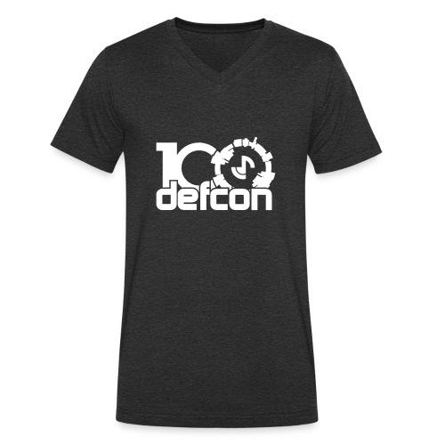 defcon100solidlight - Men's Organic V-Neck T-Shirt by Stanley & Stella