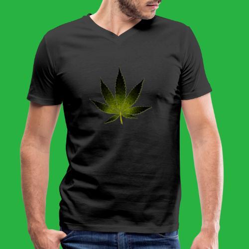 hanfblatt - Männer Bio-T-Shirt mit V-Ausschnitt von Stanley & Stella