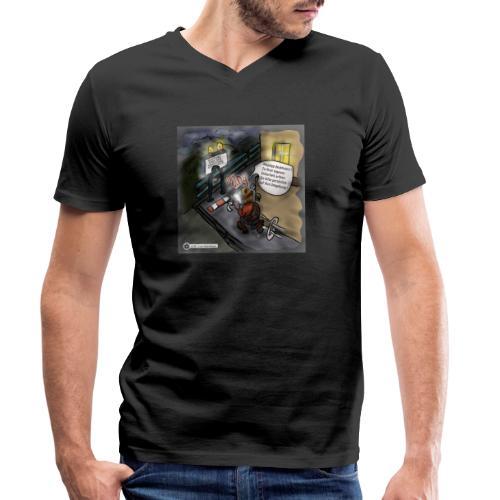 Cartoon SmartZone Ende der Ausbaustrecke - Männer Bio-T-Shirt mit V-Ausschnitt von Stanley & Stella