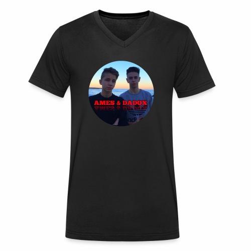 AMES & DADOX - T-shirt ecologica da uomo con scollo a V di Stanley & Stella